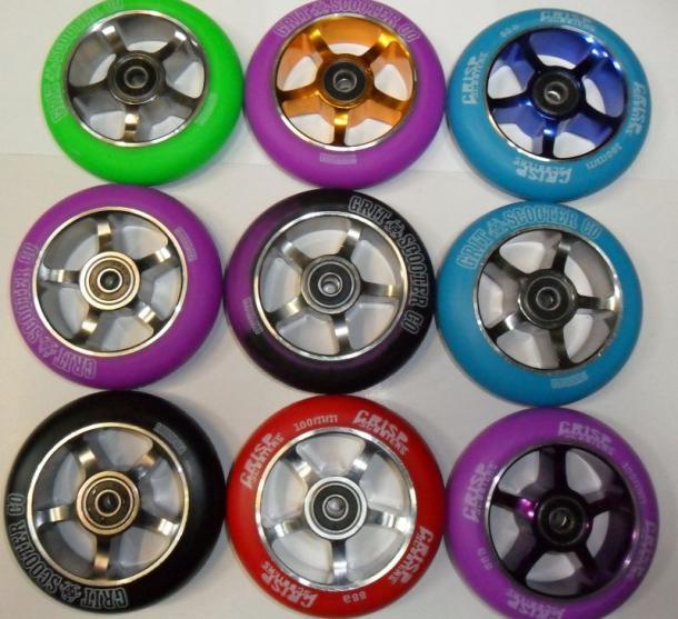 Grit & Crisp 100mm Spoked Wheels