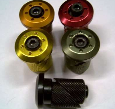 S & M Anodized Bar End Plugs