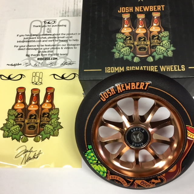 Ride 858 Slik Rik 120mm Josh Newbert Wheel