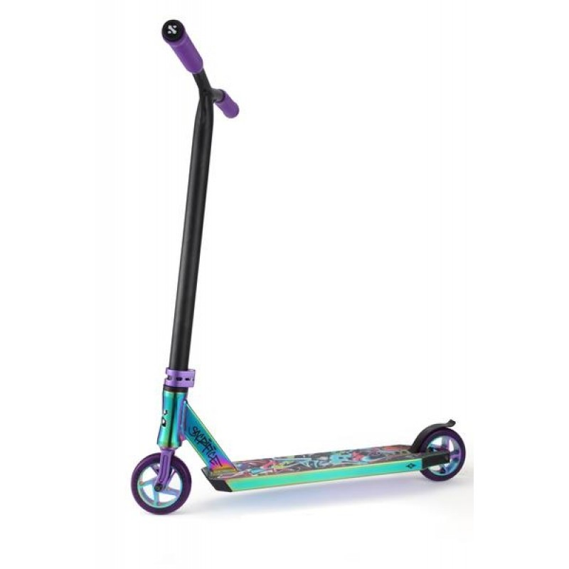 Flyte 100 Neochrome & Purple scooter side view