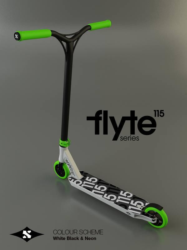 Flyte white & neon green
