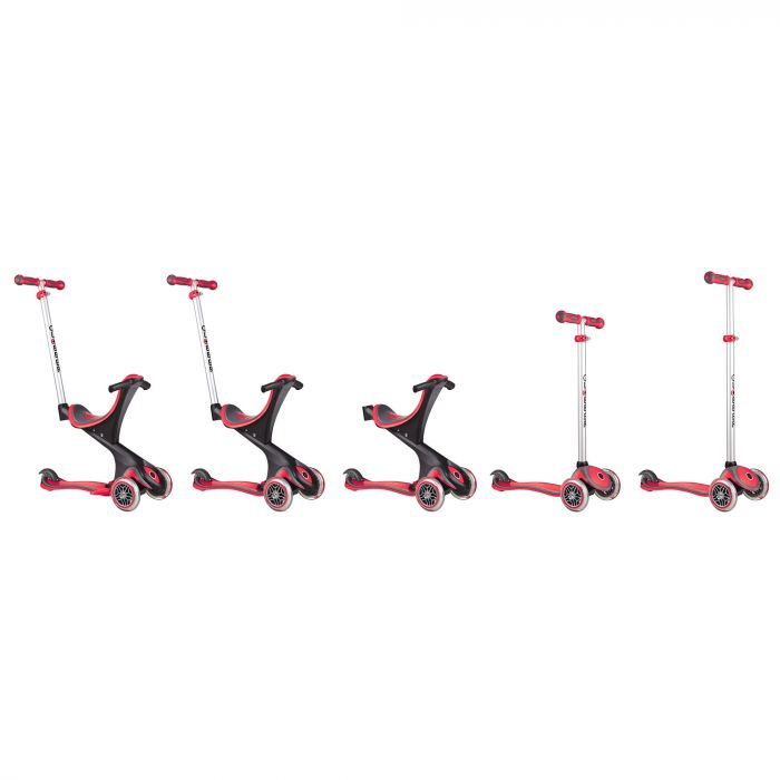 Globber Evo Comfort 5 in 1 Scooter Red