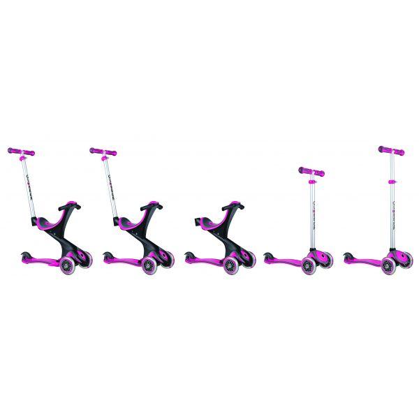 Globber Evo Comfort 5 in 1 Pink Kids Scooter