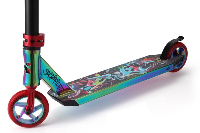Sacrifice Flyte 115 Neochrome & Graffiti Red Scooter