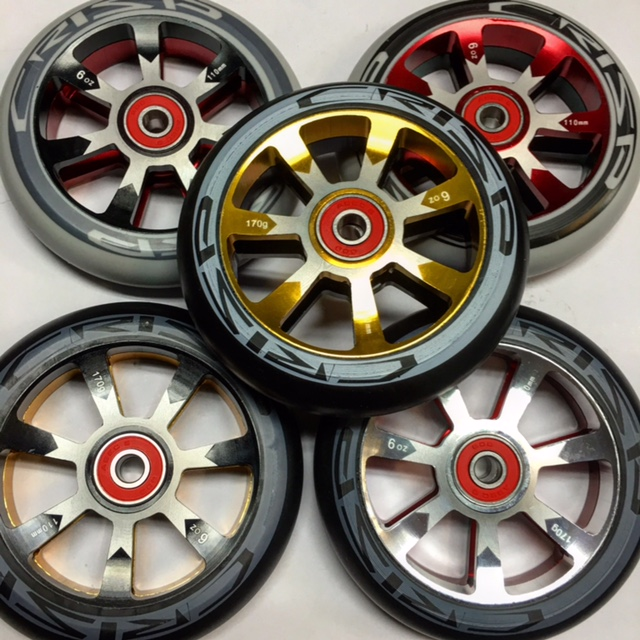Crisp Hollow Tech 110mm wheels.