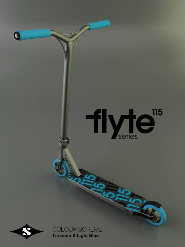 Sacrifice Flyte 115 Scooter Titanium Blue