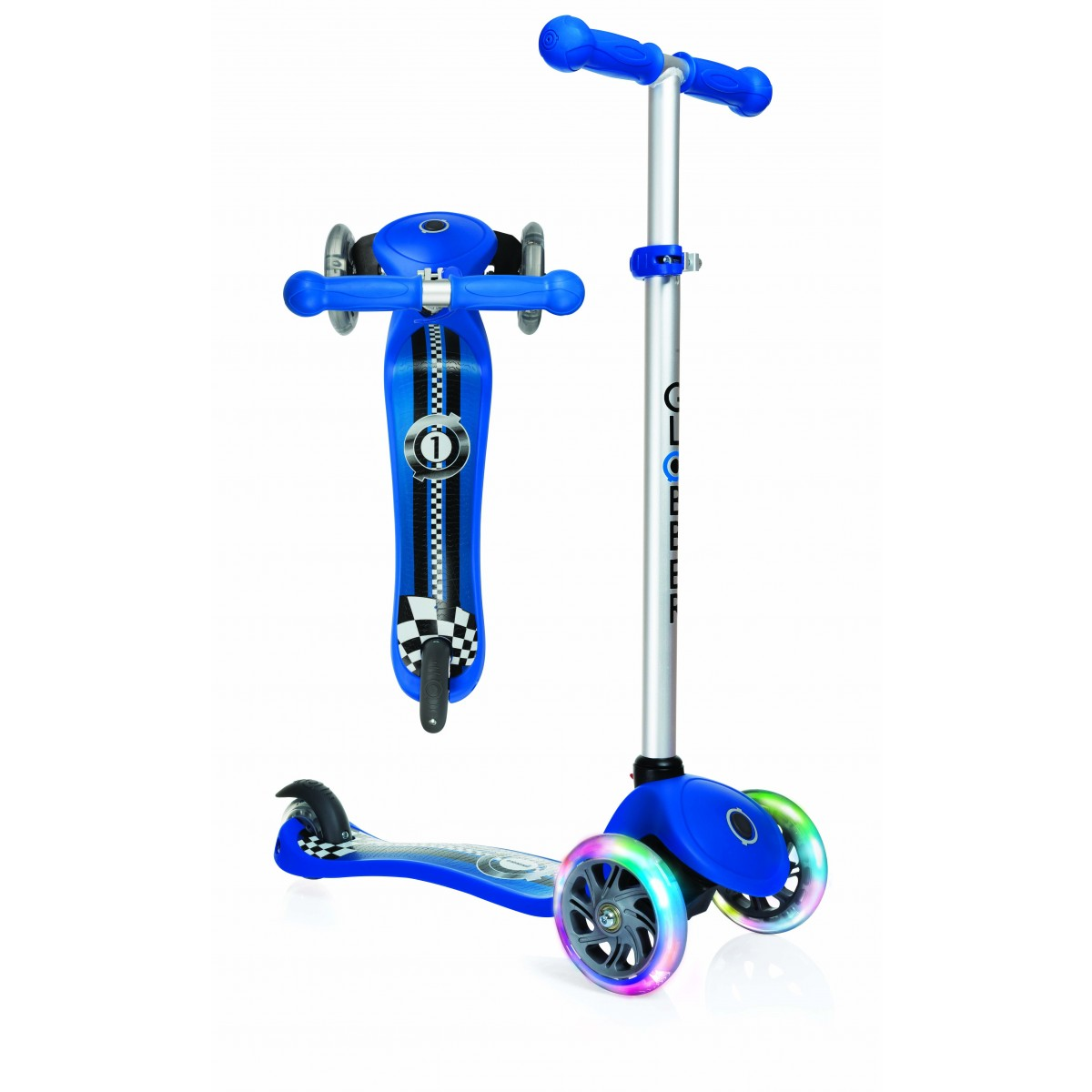 Globber Fantasy Scooter Blue with Light up Wheels