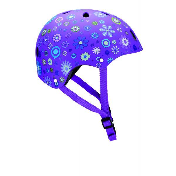 Globber Helmet Purple Flower