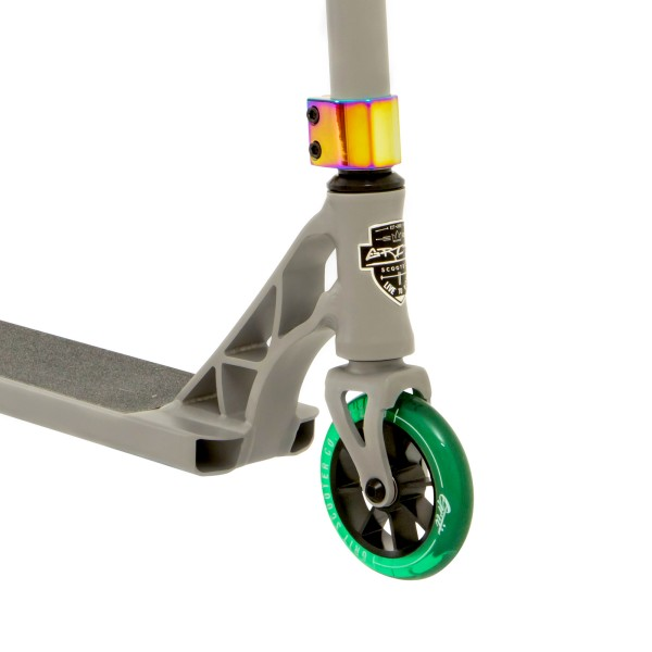 2019 Grit Elite Scooter Grey with green wheels