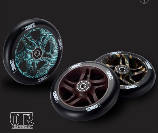 Envy OTR 120mm Wheels, Bandana, Camo & Wood Grain