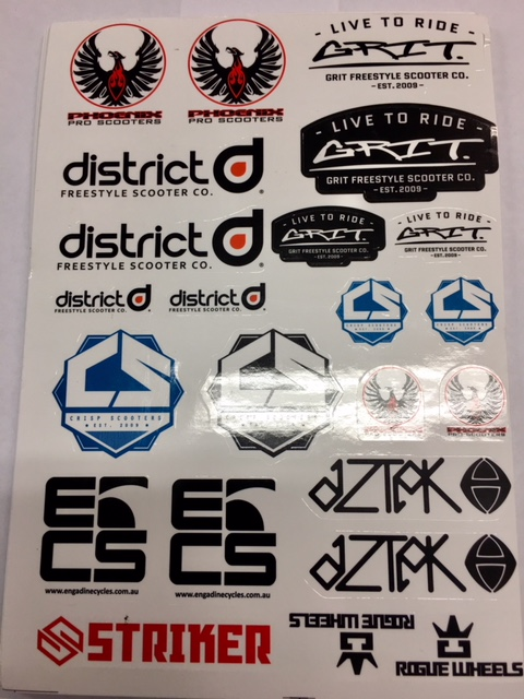 ECS Scooter Sticker Sheet.