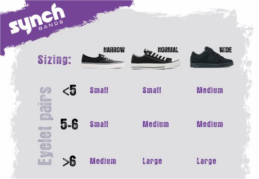 Synch Bands Size chart